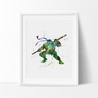 Teenage Mutant Ninja Turtles - Donatello Watercolor Art Print