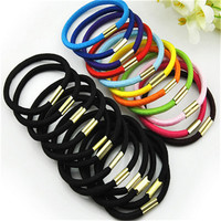 10pcs/lot  Black And Candy Colored Hair Holders Elasticity Rubber Hair Band Tie Hair For Girl Women  / Hair Accessories