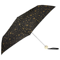 Accessorize | Glitter Galaxy Superslim Umbrella | Black | One Size