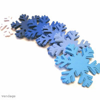 Nordic Snowflake Die Cuts, Large Snowflakes, Shades of Blue Snowflakes, Christmas Decorations , 30 Snowflakes, Winter Decorations