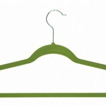 Ben&Jonah Collection Velvet Anti-Slip Hangers - Green