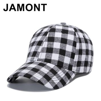 Trendy Winter Jacket Jamont Design Plaid Soft Cotton Baseball Cap Men Women Casual Strapback Casquette Golf Hat Low Profile Adjustable Snapback Caps AT_92_12