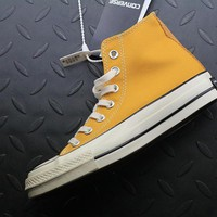 Converse 1970s High Tops Fashion Canvas Flats Sneakers Yellow