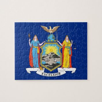 Puzzle with Flag of New York State