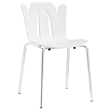 Flare Dining Side Chair in White