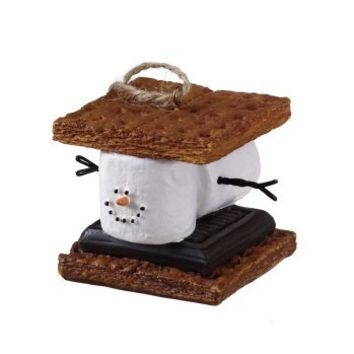 "2"" S'mores Marshmallow Chocolate Sandwich Christmas Ornament"