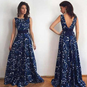 Women Long Forma Gownsl Prom Dresses Cocktail Party Ball Gown Evening Bridesmaid Dress
