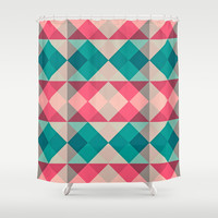 Harlekin Shower Curtain by Goekhan Serbest