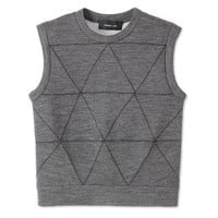 Derek Lam Heather Gray Top - Gray Tank Top - ShopBAZAAR