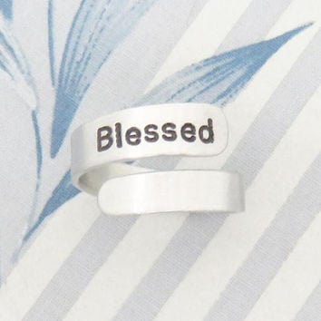 Religious gift Blessed ring jewelry - Religious ring