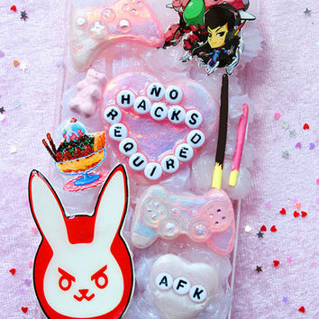 Pastel Kawaii D.VA Deco Phone Case/Overwatch Deco Phone Case