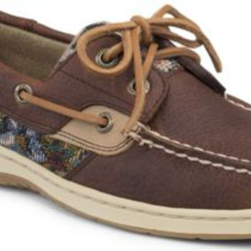 Sperry Top-Sider Bluefish Floral Print 2-Eye Boat Shoe Tan/Floral, Size 5.5M  Women's Shoes