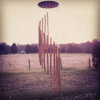 Spiral Bamboo Wind Chimes, Bamboo Wind Chimes, Wind Chime