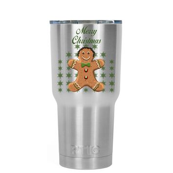 RTIC Merry Christmas Gingerbread Man 20 oz Tumbler Cup
