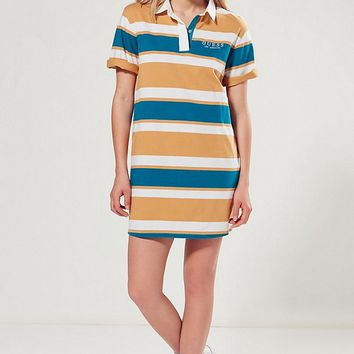 GUESS + UO Rugby Striped Shirt Dress | Urban Outfitters