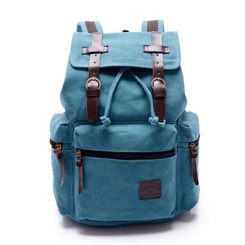 Luggage&Bags Women Men Canvas Backpacks Schoolbags for Girls Boys Teenagers Casual Travel Laptop Bags Rucksack mochila