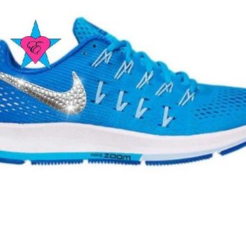 Bling Blue Nike Air Zoom Pegasus 33 Shoes