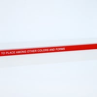 """TO PLACE AMONG OTHER COLORS AND FORMS"" Thomas A. Clark x Book/Shop"