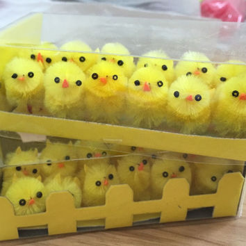Bright Yellow Easter Chick Plush Toys