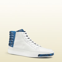 Gucci - online exclusive leather and python high-top sneaker 374654AYOM09064