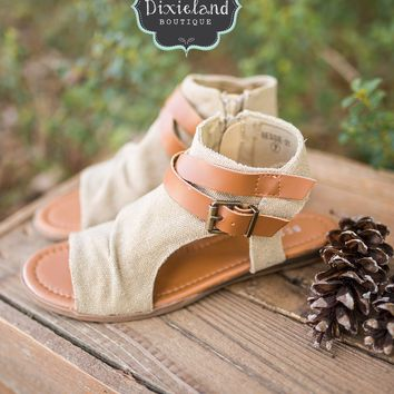 The Bessie Sandals in Natural