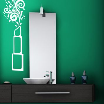 Vinyl Decal Wall Sticker Lipstick Color Cosmetics Beauty for Image Maker Unique Gift (n477)