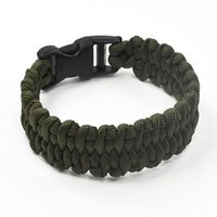 KLOUD City ® Olive Green 9-inch polyester paracord survival bracelet