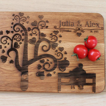 Wedding gift for the couple Custom cutting board Custom Engraved cutting board Wedding gift Anniversary cutting board