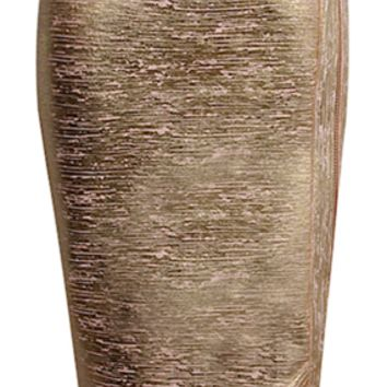 Alla Metallic Gold Foil Pencil Bandage Skirt