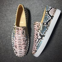 DCCK Christian Louboutin low tops CL fashion casual shoes red sole for men and women sneakers 90521