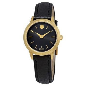 Movado 1881 Dial Automatic Ladies Leather Watch 0607024