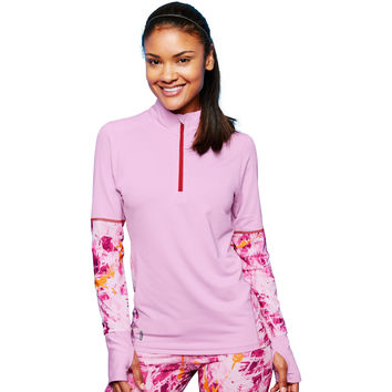 Duofold by Champion THERMatrix Womens 1/4 Zip Printed Pullover