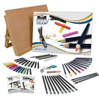 Royal & Langnickel 58-piece Learn to Sketch & Draw Art Set (Charcoal/Graphite)