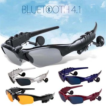 High Quality Sport Bluetooth Earphone Headphones Sun Glasses Headset Mobile Phones Hands Free Stereo Earphone for  Hiking Drivin