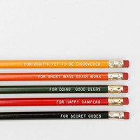 Urban Outfitters - Message Pencil - Set Of 5
