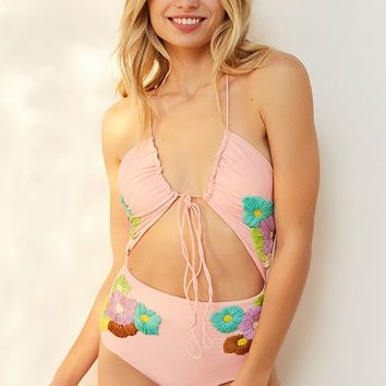 Lolli Smitten Blooms One-Piece Swimsuit | Urban Outfitters