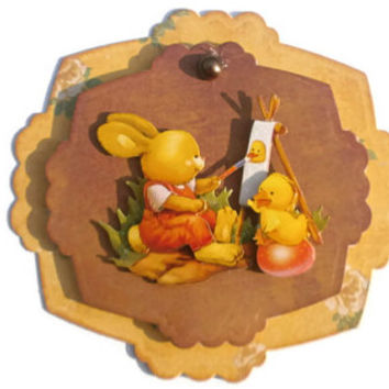 Easter, bunny, Scrapbook embellishment, Paper piecing, gift tags, Scrapbooking Layouts, Cards, Mini Albums Paper Crafts