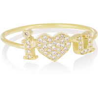 Jennifer Meyer - I Love You 18-karat gold diamond ring