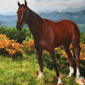 Horse Portraits - Horse in Landscape 357