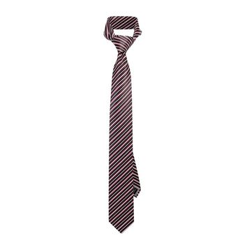 Red Racing Striped Tie
