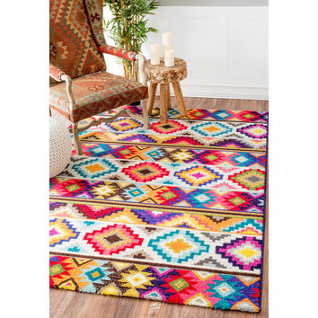 nuLOOM Retro Tribal Diamonds Multi Kids Rug (8' x 10') | Overstock.com Shopping - The Best Deals on 7x9 - 10x14 Rugs