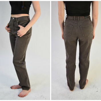 80s Brown Gloria Vanderbilt Jeans // Trendy Hipster High Waisted Jeans // Grunge Revival // Size 6