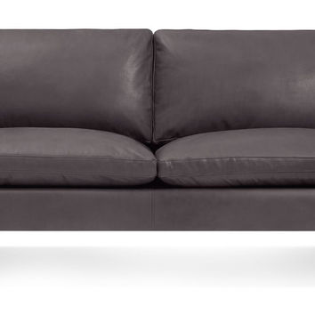 New Standard Leather Sofa 78-Inch
