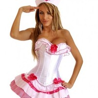 Pink 3 PC Pink Sailor Girl Costume @ Amiclubwear costume Online Store,sexy costume,women's costume,christmas costumes,adult christmas costumes,santa claus costumes,fancy dress costumes,halloween costumes,halloween costume ideas,pirate costume,dance costu