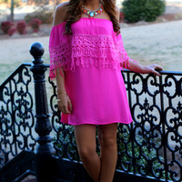 Pretty in Pink Dress: Hot Pink - Off the Racks Boutique