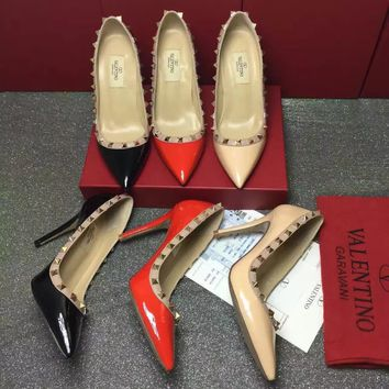 VALENTINO Women's Leather High-heeled Shoes