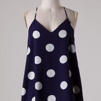 Dots Enough Tank - Navy