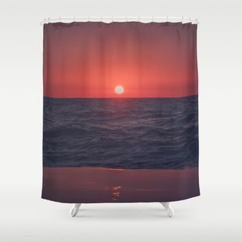 Restless Sunset Shower Curtain by Faded  Photos