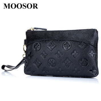 2017 Fashion Day Clutch Genuine Leather Wallet Women Lady Wallets Women Purse Female 5 Colors Women Wallet Card Holder DC228