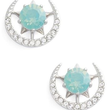 Nadri Wishes Moon Stud Earrings | Nordstrom